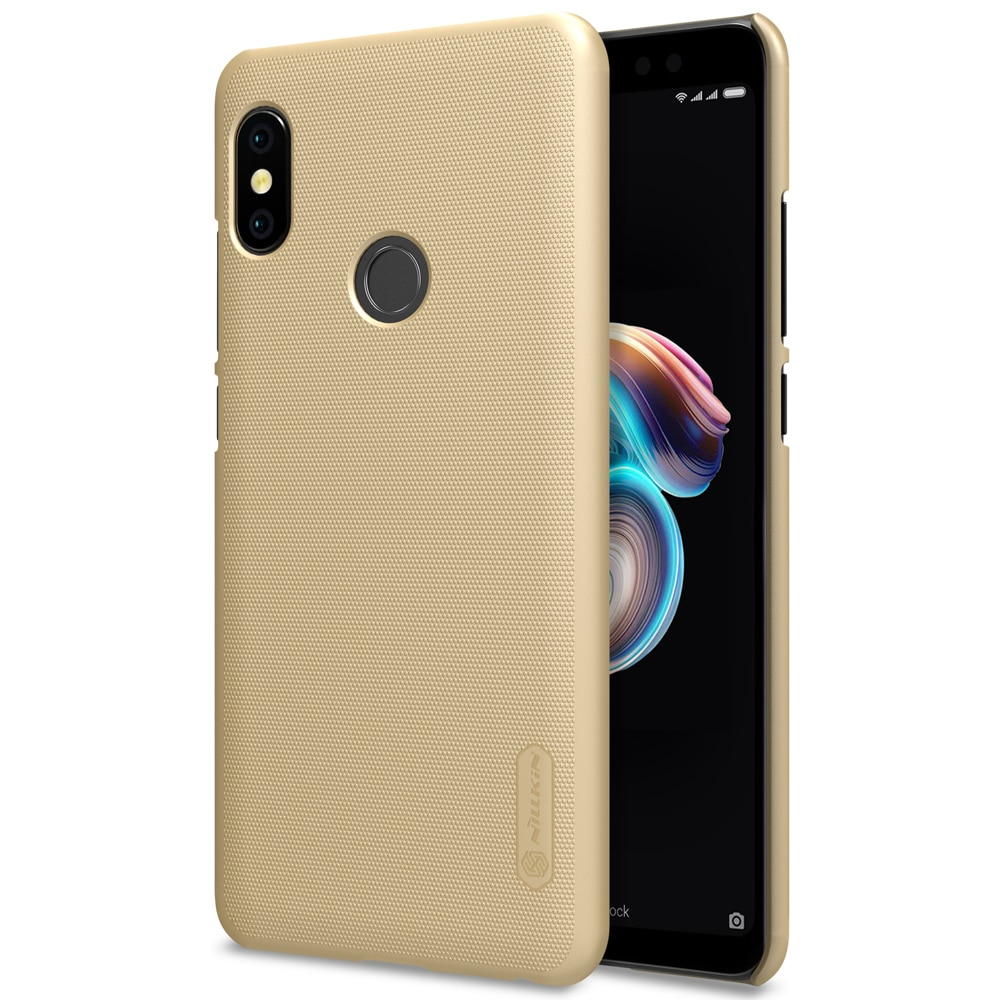 Redmi Note 5 / Note 5 PRO Frosted Shield Hard Back Cover by Nillkin - Gold